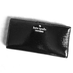 Kate Spade Cedar Street Black Patent Stacy Wallet