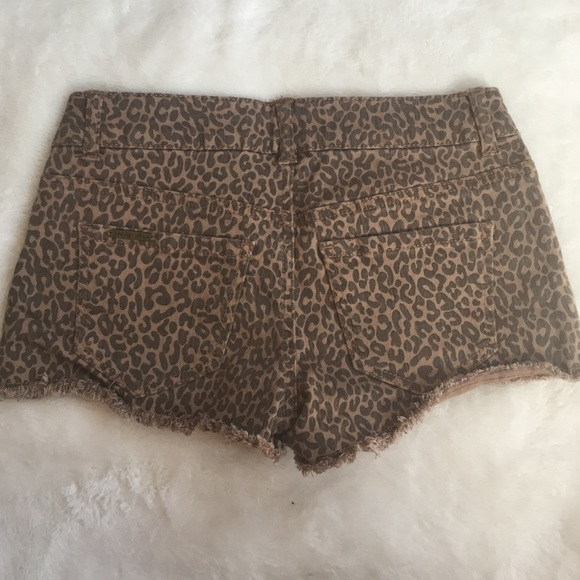 75% off Pants - Cheetah printed jean shorts from Megan's closet on ...
