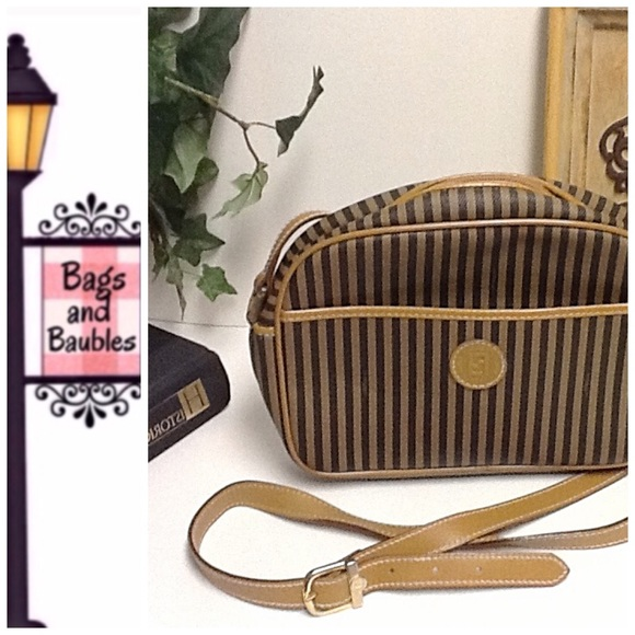 8a10861592 FENDI Handbags - FENDI Vintage Pequin Stripe Cross-body Bag