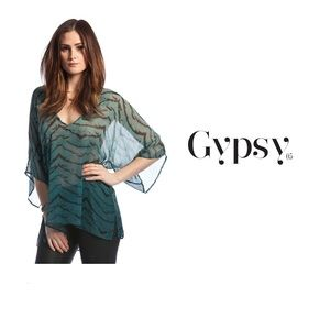 Gypsy 05 Tops - Gypsy 05 Turquoise silk top xs.