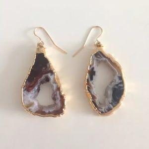 Heather Gardner Jewelry - Heather Gardner Gold Geode Slice Earrings. NWOT