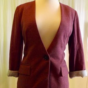 Mauve Blazer by Cartonnier for Anthropologie