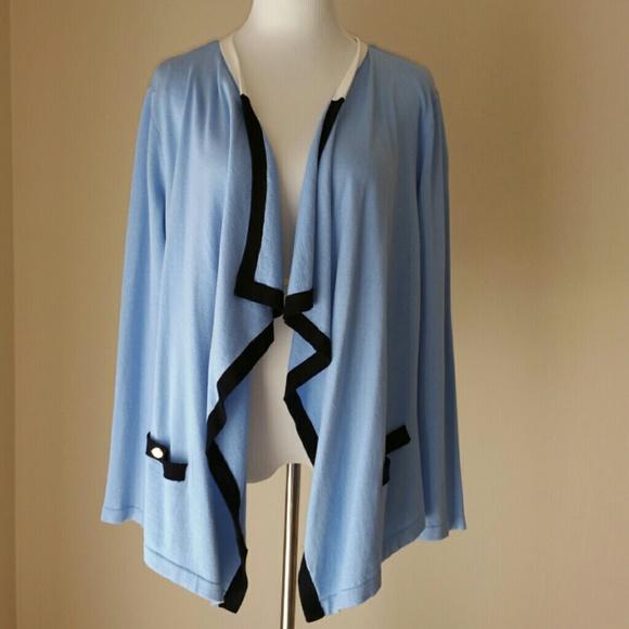 66% off Jones New York Sweaters - 💙HP Light Blue Waterfall ...