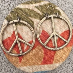 Lucky Brand Accessories Peace Sign Earrings Poshmark