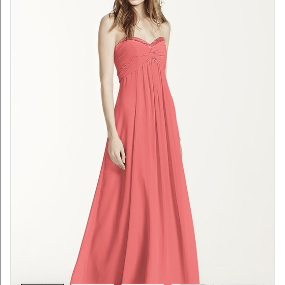 Plus size bridesmaid dress from David\'s Bridal