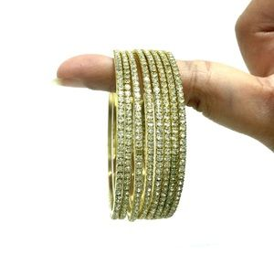 White stone bangles