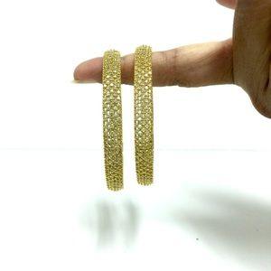 Thick white stone bangles