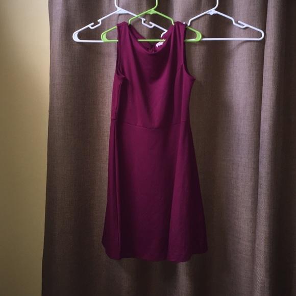 90 merona dresses skirts clearance maroon a line