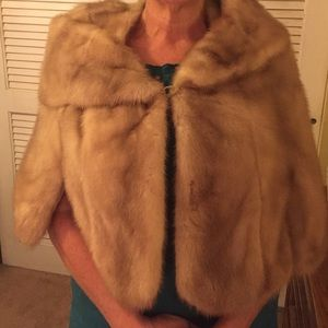 1960 real mink cape