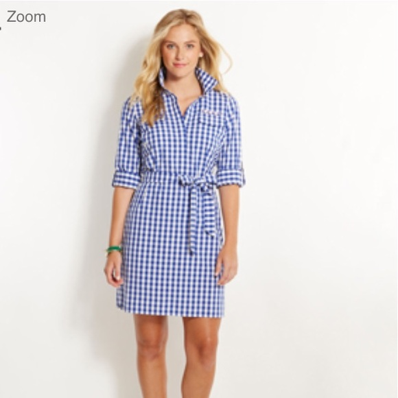 7a1c5f9222 Vineyard Vines Dresses | Ladies Gingham Harbor Shirt Dress | Poshmark