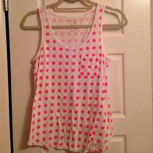 neon pink dotted tank