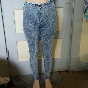 Forever 21 Pants - High waisted acid wash jeggings
