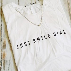 Zara Tops - Zara Text Graphic T-shirt