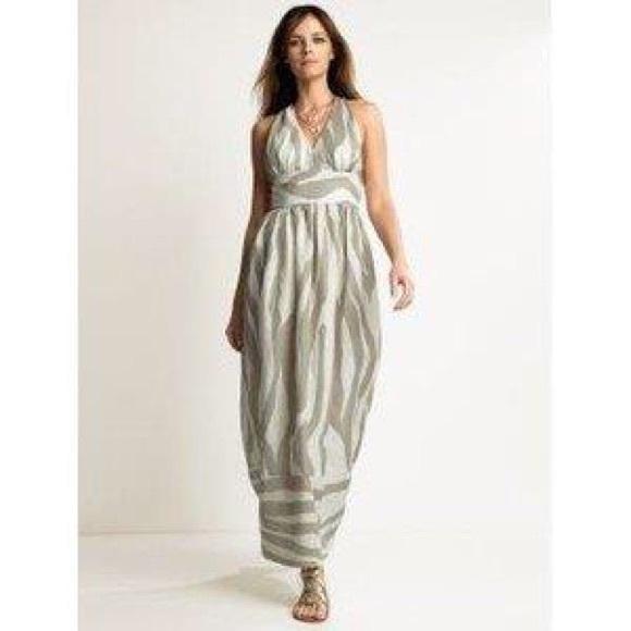 6a077e3572c Banana Republic Dresses   Skirts - Banana Republic Linen zebra patio maxi  dress 0