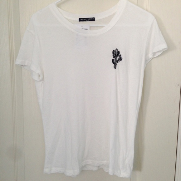 Brandy melville sold embroidered cactus tee from