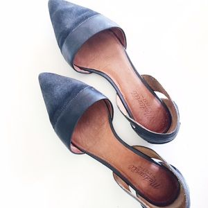 Madewell Shoes - Madewell d'Orsay flat in black leather.
