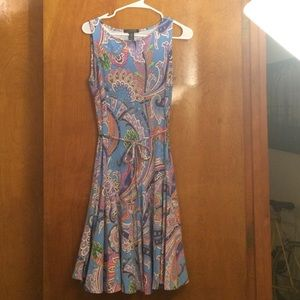 Ralph Lauren knee length paisley dress