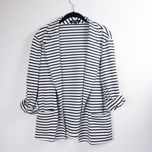 Forever 21 Jackets & Blazers - Forever 21 striped jersey blazer.