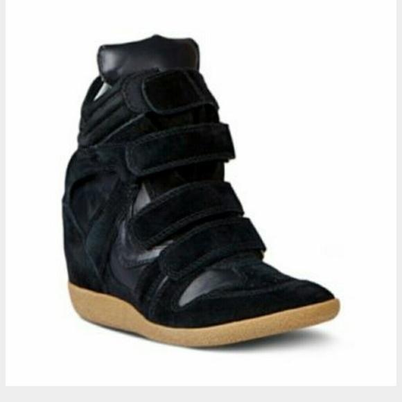 d9067332e47 Steve Madden Hilight Black Wedge Sneakers