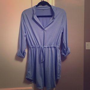 Light blue shirt dress / beach cover up
