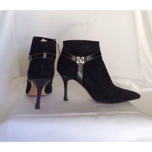 Lambertson Truex black suede booties