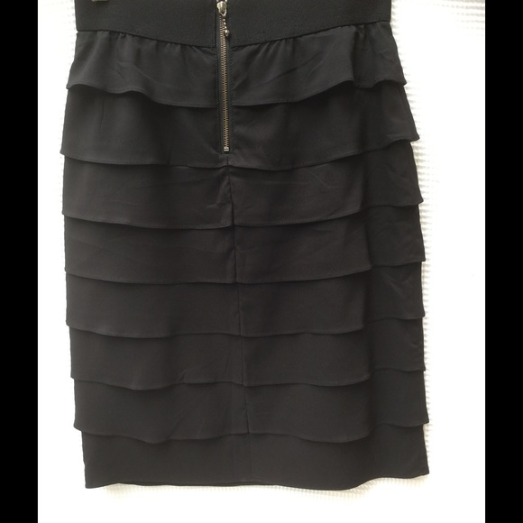 78% off Alfani Dresses & Skirts - Black Alfani Tiered Ruffle ...