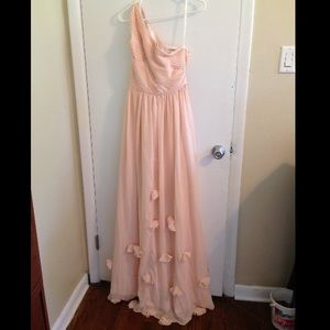 Summer wedding. bridesmaid blush dress. Never worn