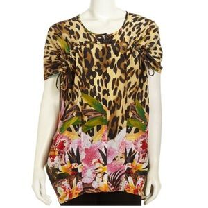 Lafayette 148 New York Tops - 🎉HP Lafayette 148 Animal Floral Kendra Blouse