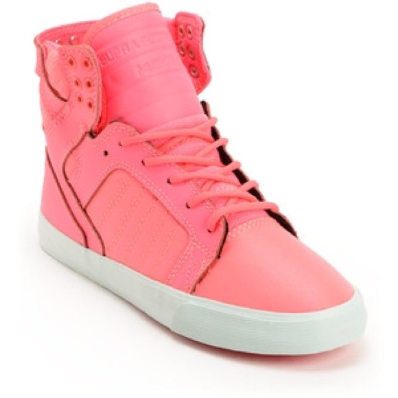 68 supra shoes supra highlight pink high tops in a