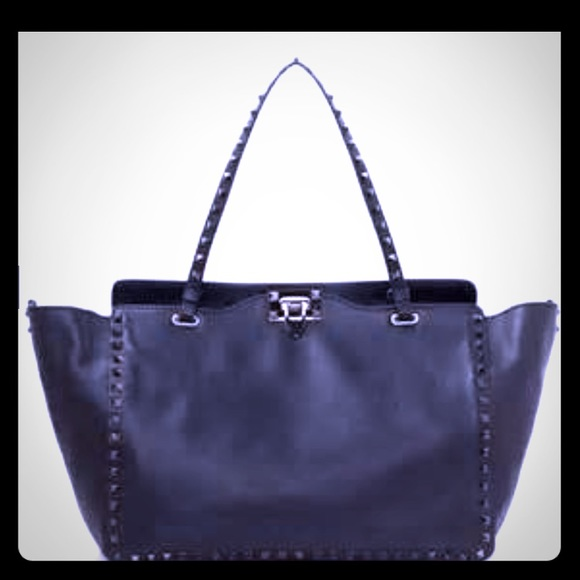 4014a1cf84 Valentino Bags | Sold Garavani Rockstud Noir Tote | Poshmark