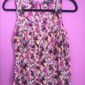 Express flower patterned tank top
