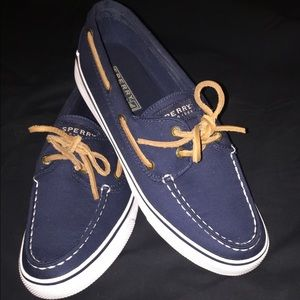 Brand new Sperry Top Sider Navy Boat Shoes