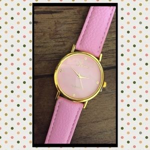  GENEVA PINK AND GOLD FASHION WATCH, NWOT
