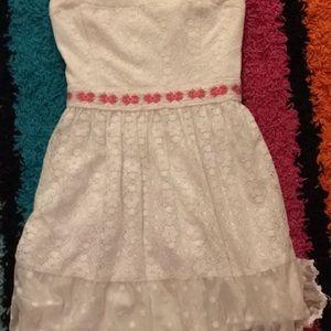 white/pink hollister dress.
