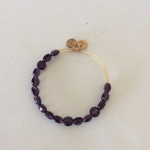 Alex and ani purple beaded bracelet