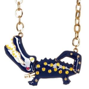 Betsey johnson alligator necklace