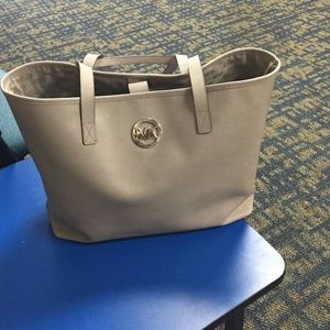 Grey MK tote bag