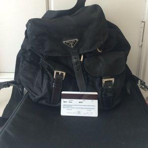 prada red wallet men - 70% off Prada Handbags - Authentic Prada Knapsack Backpack ...