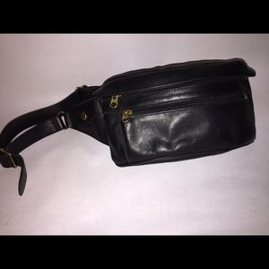 Coach fanny pack black leather