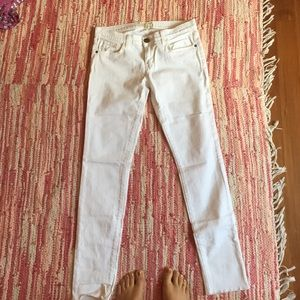 Current/Elliott white denim jeans