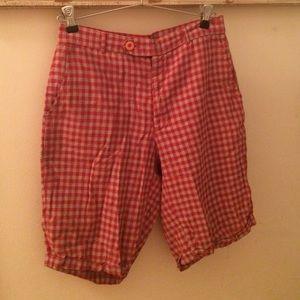 Fiorucci - Italian Red/Grey plaid Bermuda shorts