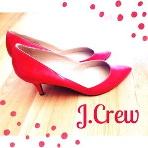 J.Crew Red Valentina Pumps