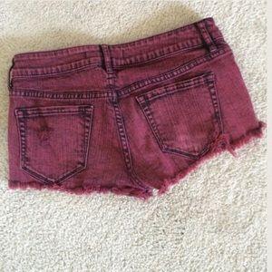 PacSun Shorts - Burgundy Pacsun Bullhead shorts