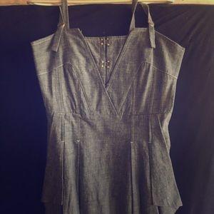 Leifsdottir chambray denim dress