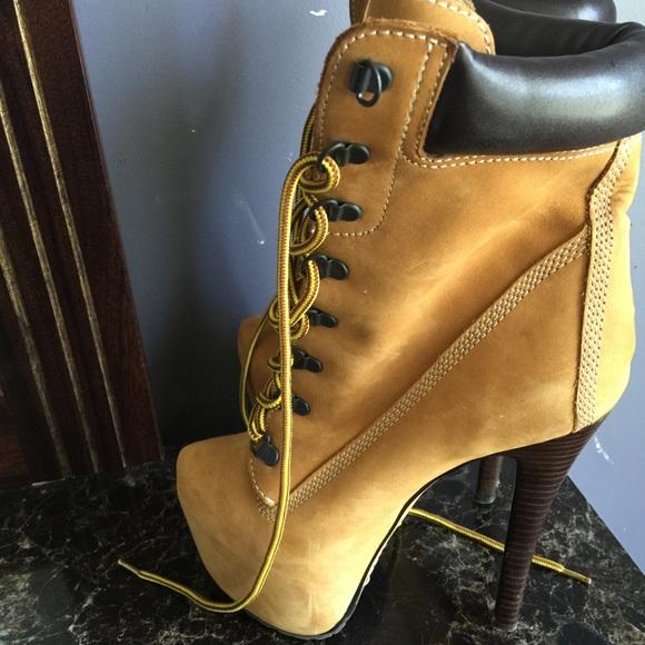 zigi timberland heels black