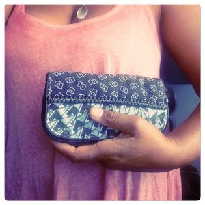 Lulu Black white Geometric soft Snap wallet  phone