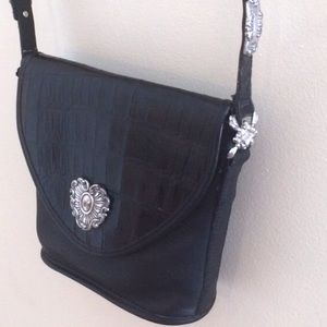 Brighton Handbags - Brighton Handbag Black w/Silver Detail