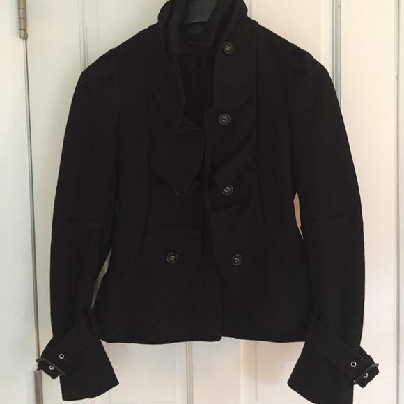 81% off BCBGMaxAzria Jackets & Blazers - BCBGMAXAZRIA Black Wool ...
