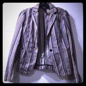 Striped denim express blazer size 3/4