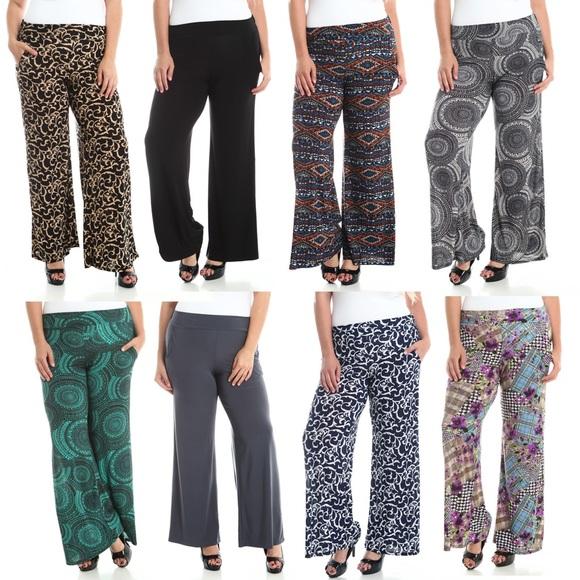 46% off stylzoo pants - plus size palazzo pants w/ pockets